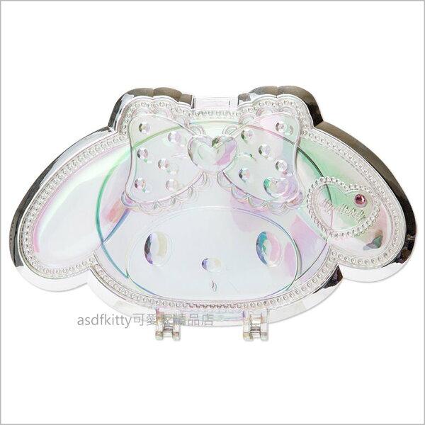 asdfkitty可愛家精品店:asdfkitty可愛家☆美樂蒂造型化妝鏡桌鏡立鏡隨身鏡-日本正版商品