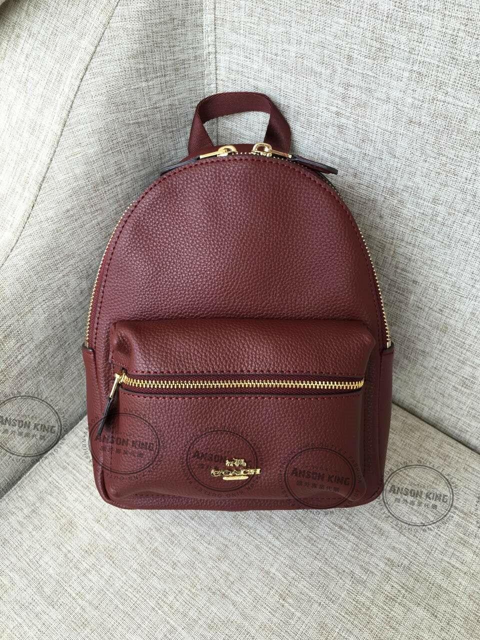美國Outlet代購 Coach 全新正品 F38263 Backpack純色迷你後背包 紫色 雙肩包 書包 多色可選