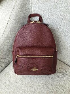 美國Outlet代購 Coach 全新正品 F38263 Backpack純色迷你後背包 酒紅色 雙肩包 書包 多色可選