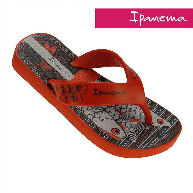 16CM~IPANEMA 中童 巴西原裝 柔軟 不打滑 拖鞋 IP2575923249(紅色X魚)[陽光樂活]