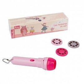【淘氣寶寶】法國MoulinRoty故事手電筒-童話故事【保證公司貨】