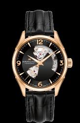 Hamilton 漢米爾頓 JazzMaster 經典鏤空機械錶 H32735731 金 黑 42mm