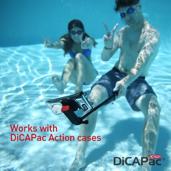 DiCAPac DRS-C1 (有現貨)高耐磨手機防水袋+自拍器+臂帶(5.1吋以下)