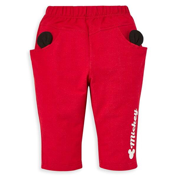 Disney米奇系列俏皮小耳朵彈力哈倫褲-紅色