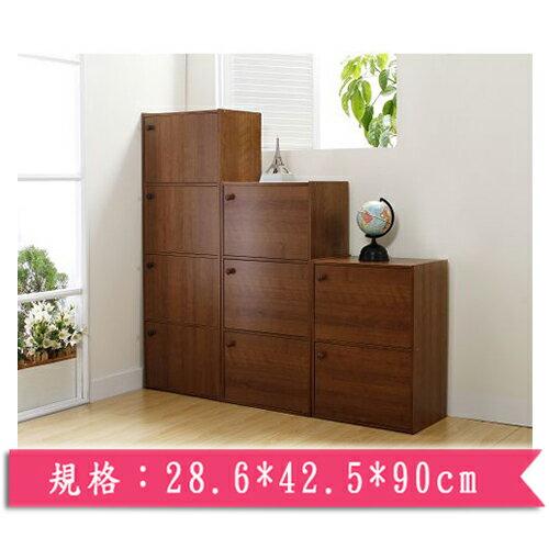 小田園高級三層木製組合收納櫃【愛買】