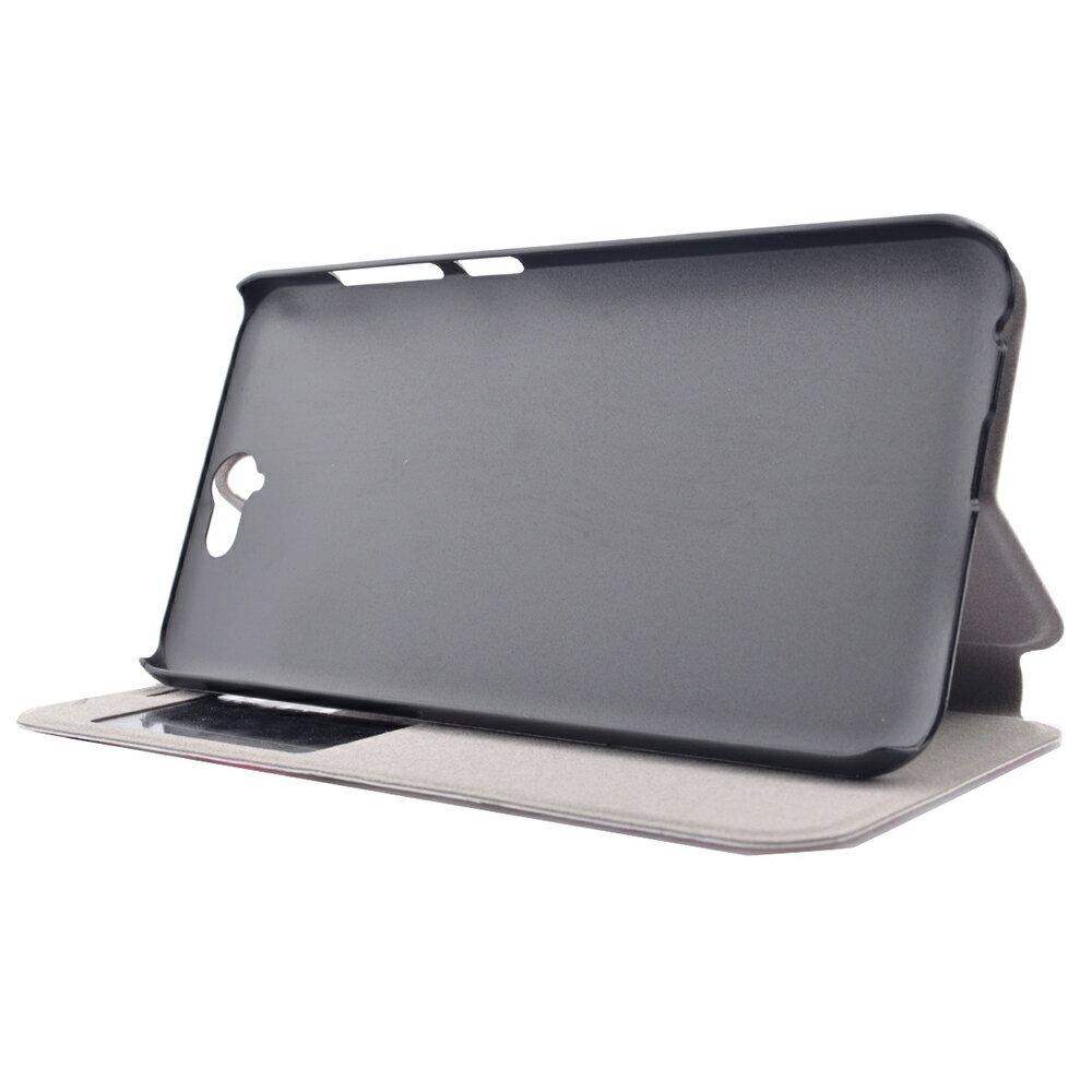 Samsung S7 時尚彩繪手機皮套 側掀支架式皮套 仙境遊蹤/少女背影/蠟筆拼盤 2