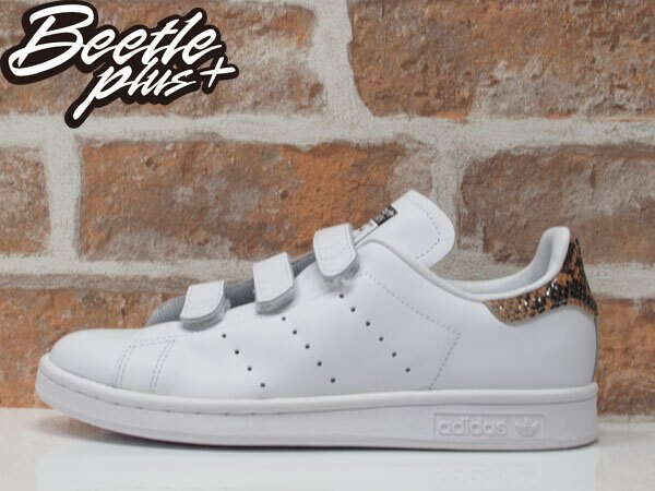 BEETLE ADIDAS ORIGINALS STAN SMITH CF W 全白 魔鬼氈 蛇紋 女鞋 S81389