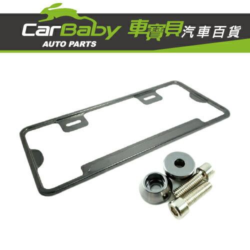 【車寶貝推薦】COTRAX新式7碼輕量化鋁合金牌照框(鈦)