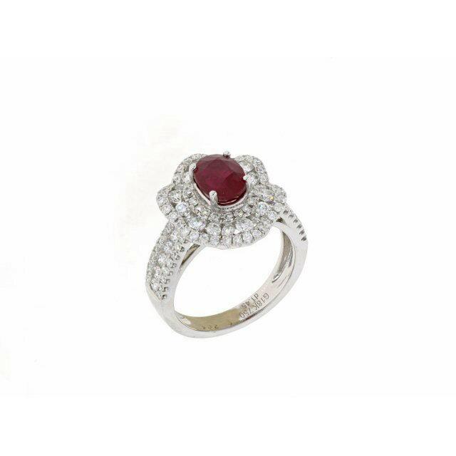 【GRS頂級鴿血紅】天然紅寶石戒指 2.04克拉 18K金 商品編號:YC070227-2
