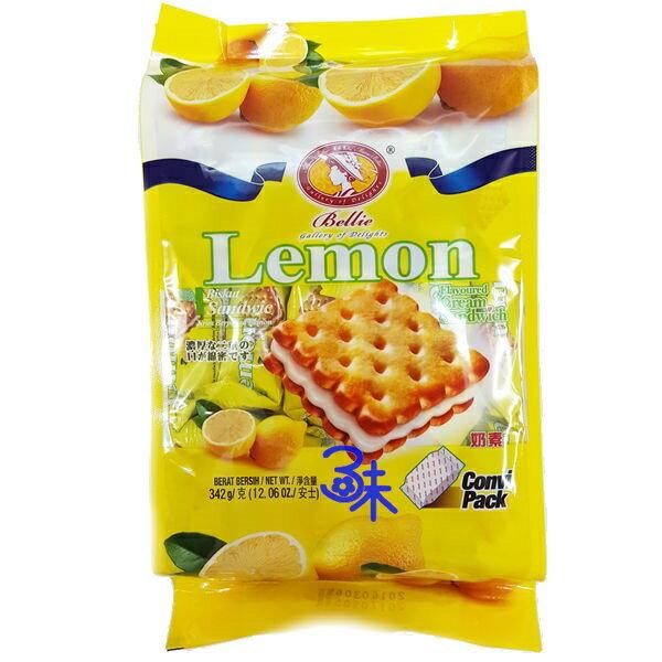 (馬來西亞) 美樂貝兒蘇打餅 - 檸檬夾心 (美樂貝兒檸檬夾心蘇打餅) 1包342 公克 特價 88 元 【 9555039903736 】