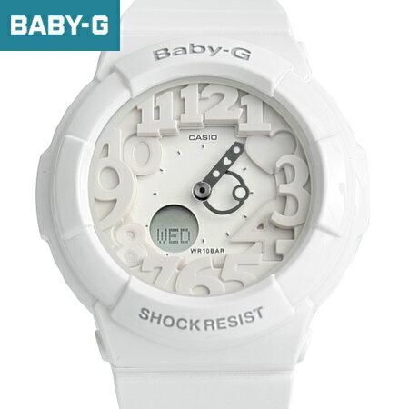 Baby-G 雪白數字運動手錶 柒彩年代【NECB8】casio BGA-131-7BDR