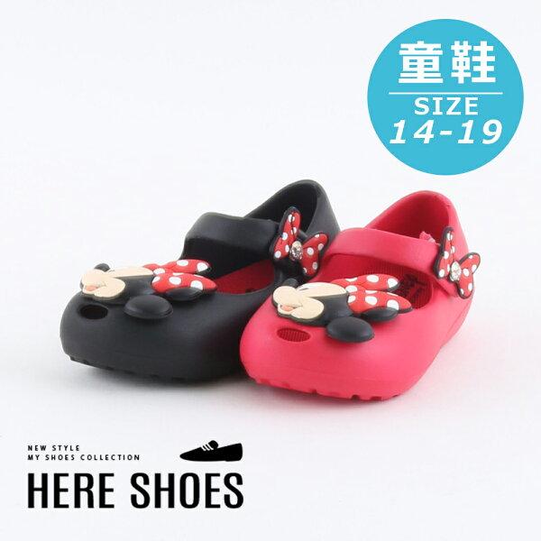 【KE117007】迪士尼原廠代理正版可愛米妮果凍扣帶休閒鞋MIT台灣製1.5CM2色