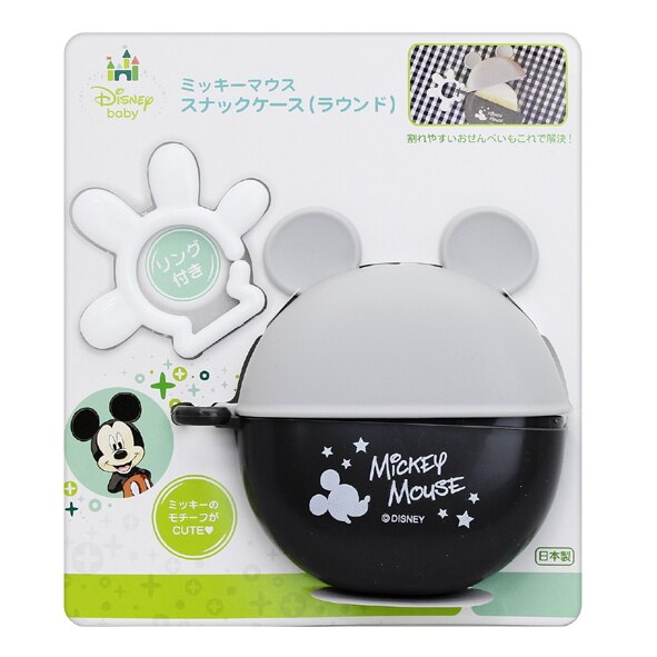 日本 迪士尼 Disney 米奇攜帶式圓形餅乾盒