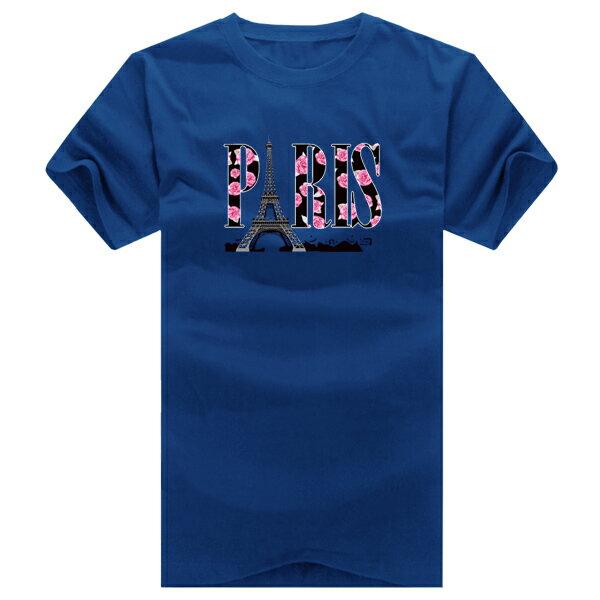 T恤 情侶裝 客製化 MIT台灣製純棉短T 班服◆快速出貨◆獨家配對情侶裝.玫瑰鐵塔PARIS【YC125】可單買.艾咪E舖 6