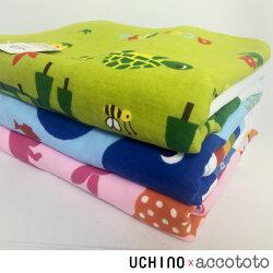 accototo 動物樂園 浴巾 / 嬰幼兒 兒童 毛巾 無撚紗 純棉  UCHINO