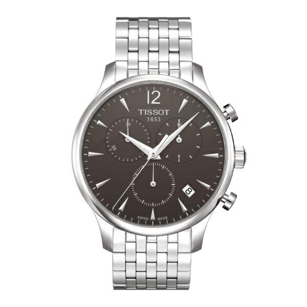 TISSOT天梭T0636171106700 TRADITION經典計時石英腕錶/黑面42mm