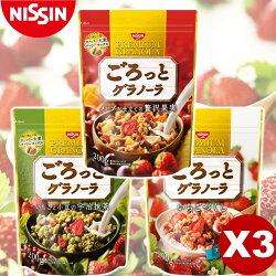 【Nissin日清】綜合早餐穀物麥片 3包入特惠組 200gx3  日本進口美食