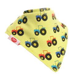 英國ZIPPY 幼兒時尚口水巾單入 (黃拖拉機)