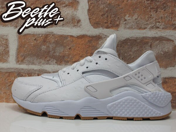 the best attitude 725d4 364fd 全新現貨BEETLE NIKE AIR HUARACHE RUN PA 白鴕鳥紋皮革膠底武士慢跑鞋男鞋705008-111 D-320