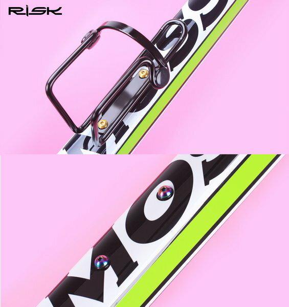 【水壺架螺絲M5*12mm】RISK TC4鈦合金螺絲 自行車水壺架螺絲 鋁合金不銹鋼螺絲白鐵螺絲可參考 1