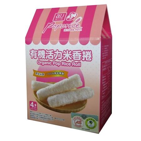 【淘氣寶寶】阿久師有機活力米香捲-原味【100%純米精製餅身,使用台灣米精製】