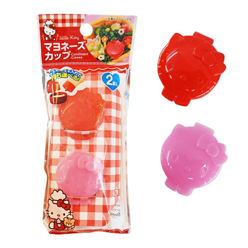 Hello Kitty 塑膠醬汁盒2入,醬料罐 / 分裝罐 / 日本雜貨 / 廚房雜貨 / 醬油罐 / 醬油瓶 / 調理,X射線【C575539】 1