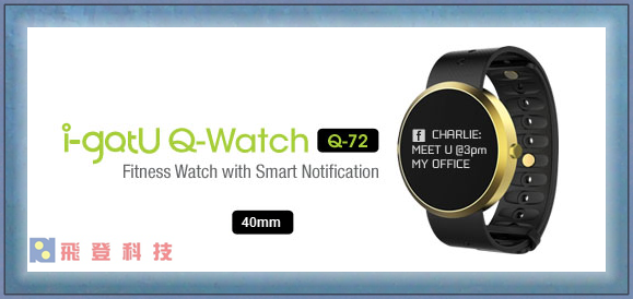 【智慧健身錶】雙揚 i-gotU Q-Watch Q72 藍牙智慧健身手錶 來電通知 簡訊提醒 類Q70