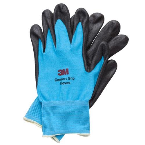 3M亮彩舒適型止滑耐磨手套藍色M