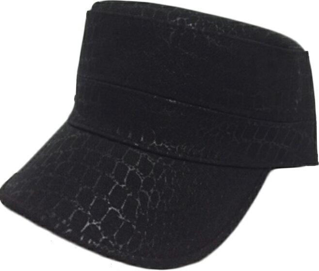 皮革 軍帽~黑 ~  好康折扣