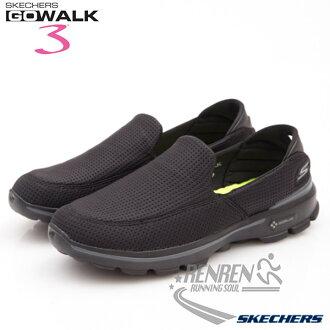 SKECHERS 男健走鞋GO WALK 3 (黑) 懶人鞋 運動鞋