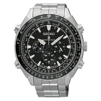 SEIKO PROSPEX太陽能電波計時運動腕錶/黑/8B92-0AK0D(SSG001P1)