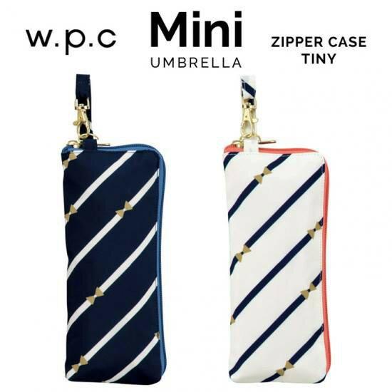 日本進口~W.P.C . 條紋款 3段式 晴雨2用 折疊傘 (現貨白色)