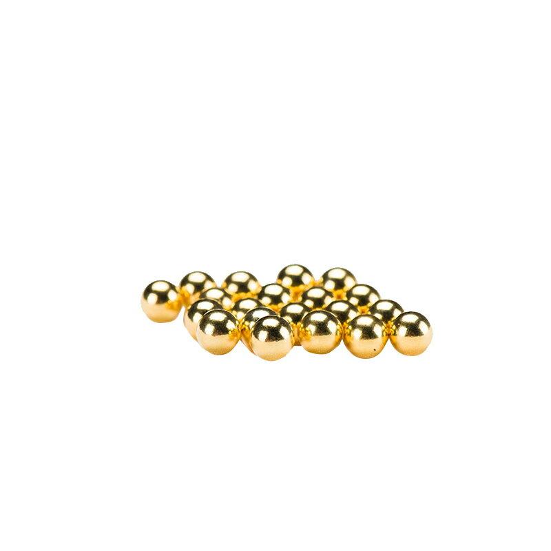 999純銀鍍金珠子佛像寶瓶裝藏用品空心無孔金珠供曼扎寶石 1粒1g