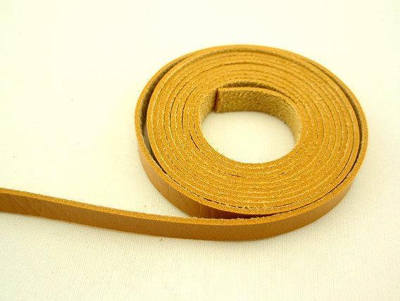 DIY手工飾品配件 黃色9MM高檔PU皮皮繩皮條單面皮