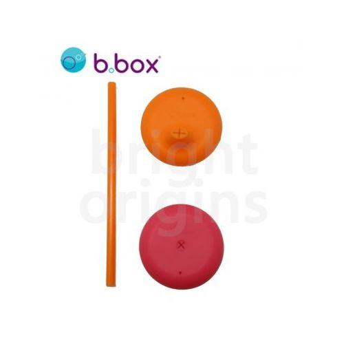 澳洲b.box矽膠杯套吸管組~奶昔系(西瓜紅+亮橘色)9319064005311★衛立兒生活館★