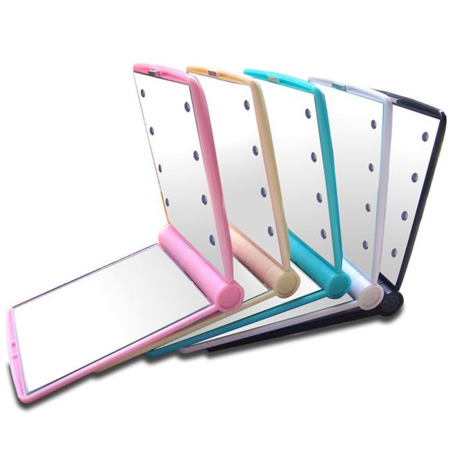 50%OFF SHOP隨身LED化妝鏡 帶燈化妝鏡 發光鏡子8LED折疊化妝鏡led小鏡子【CO029005DN】