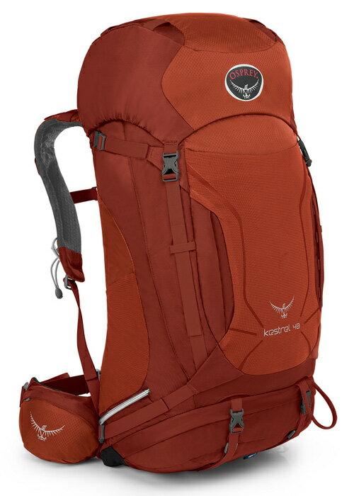 【露營趣】中和 附頭燈手電筒 美國 Osprey Kestrel 48公升 登山背包 重裝背包 自助旅遊背包