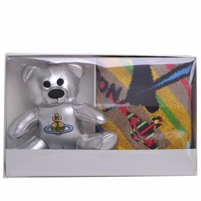Vivienne Westwood 英標燦銀行星LOGO熊手機吊飾方巾禮盒組