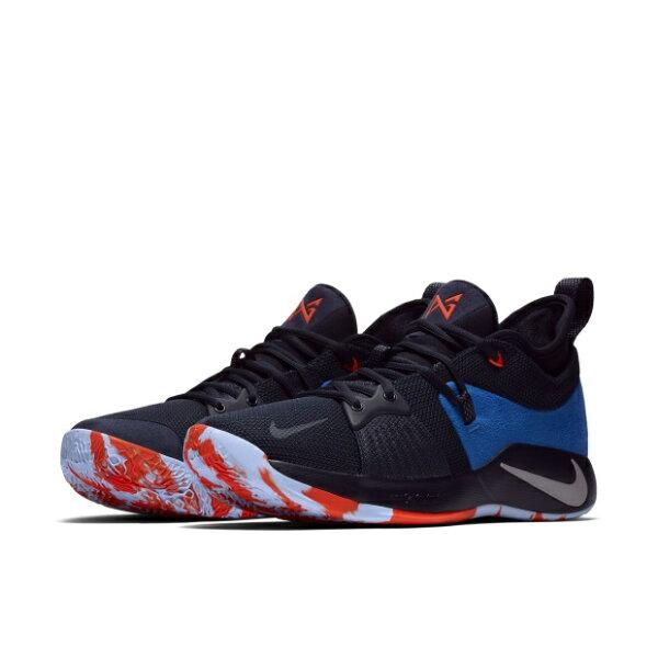 NIKEPG2EP男鞋籃球緩震柔軟泡棉鞋店XDR黑藍【運動世界】AJ2040-400