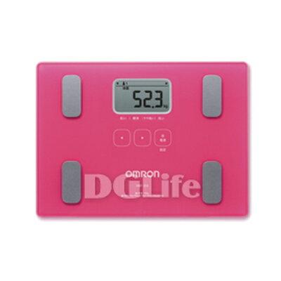 DGLife 德記生活網:HBF-212Omron歐姆龍專業型體重體脂肪計(桃紅色)HBF212宅配免運