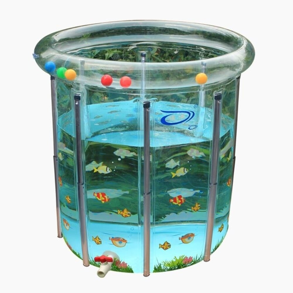 嬰兒游泳池 諾澳 游泳池 嬰幼兒 環保加厚透明寶寶 嬰兒游泳池 80*80合金支架 MKS 歐萊爾藝術館