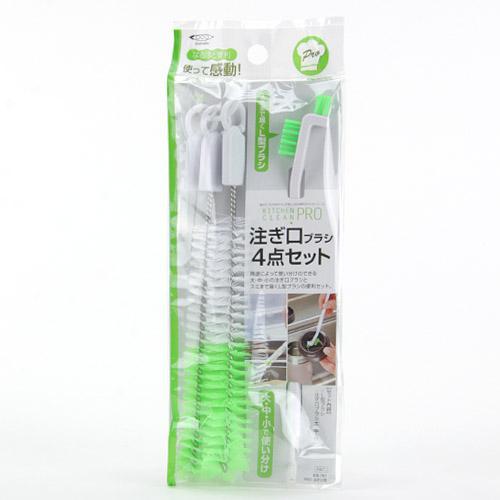【百倉日本舖】日本製 mameita 保溫杯蓋清潔刷/杯蓋刷(4入)