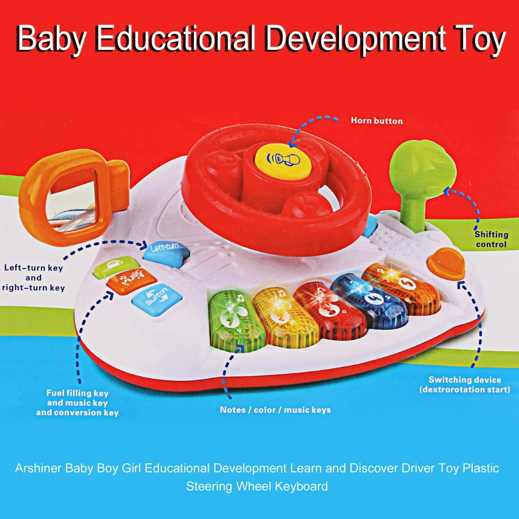 Educational Development Learn and Discover Driver Toy Plastic Steering Wheel Keyboard 5