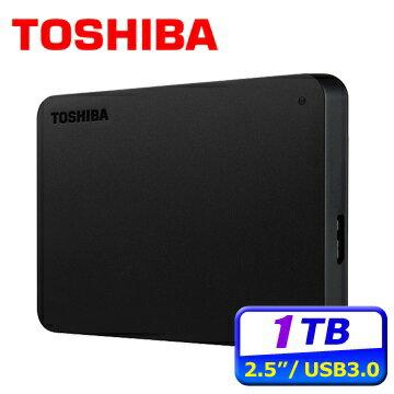 [富廉網]【Toshiba】CanvioBasics黑靚潮lll1TB2.5吋行動硬碟(HDTB410AK3AA)