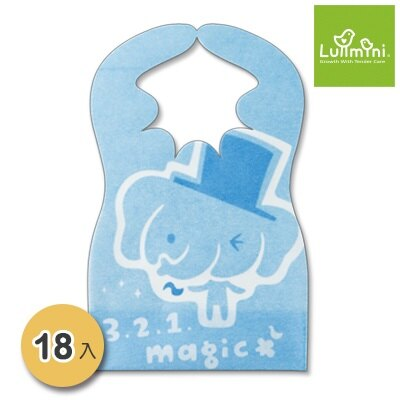 台灣【Lullmini】Floret 嬰幼童拋棄型圍兜6入(大象) 1