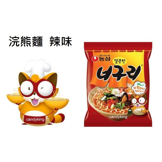韓國泡麵 農心 正韓內銷版 浣熊麵 (辣味)