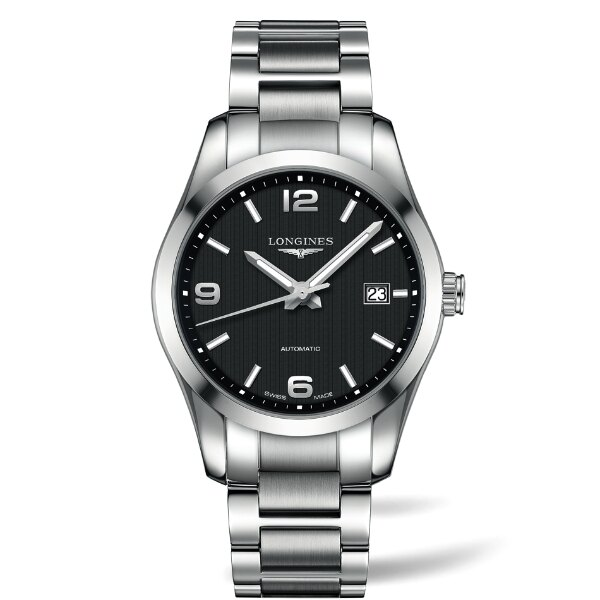 LONGINES L27854566經典征服者機械男錶/黑面40mm