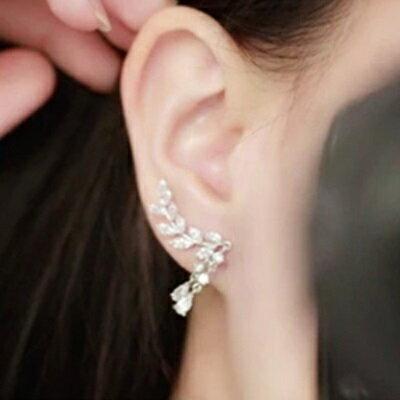 925純銀耳環鑲鑽耳飾-時尚奢華雙流蘇水滴情人節生日禮物女飾品73du2【獨家進口】【米蘭精品】