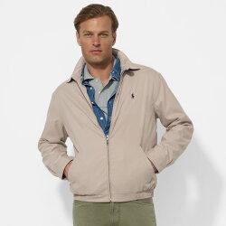 美國百分百【全新真品】Ralph Lauren 外套 RL 男 polo 專櫃款 立領夾克 風衣 卡其色 S M L號 B035