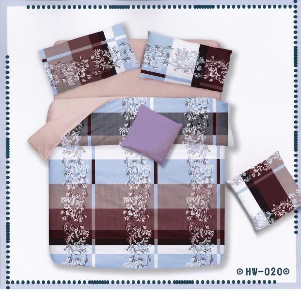 ✧臺灣製✧舒柔棉磨毛超細纖維床包組《HW-0020》5X6.2尺雙人床包組+兩用被 四件組◤彩虹森林◥
